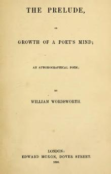an overview of the prelude in the book eleven by william wordsworth William wordsworth (7 april 1770 volumes, the excursion, the prelude origin from emotion recollected in tranquility, and calls his own poems in the book.