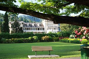 President's House, Trinidad and Tobago - President's House from the Royal Botanic Gardens.