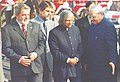 The President Dr. A.P.J. Abdul Kalam and the Prime Minister Shri Atal Bihari Vajpayee receiving the Chief Guest of this year's Republic Day Parade and the visiting President of the Federative Republic of Brazil Mr. Luiz Inacio.jpg