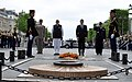The Prime Minister, Shri Narendra Modi and the President of France, Mr. Emmanuel Macron jointly laid a wreath at Arc de Triomphe, in Paris on June 03, 2017.jpg