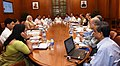 The Prime Minister, Shri Narendra Modi chairing a high level meeting on drought and water scarcity with the Chief Minister of Chhattisgarh, Dr. Raman Singh, in New Delhi on May 17, 2016 (1).jpg