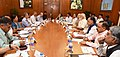 The Prime Minister, Shri Narendra Modi chairing a high level meeting on drought situation with the Chief Minister of Rajasthan, Smt. Vasundhara Raje Scindia, in New Delhi on May 14, 2016 (1).jpg