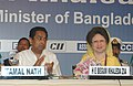 The Prime Minister of Bangladesh Ms Khaleda Zia and the Union Minister for Commerce and Industry, Shri Kamal Nath at the Business Luncheon meeting jointly organised by the Confederation of Indian Industry (CII).jpg
