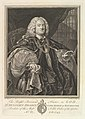 The Right Reverend Father in God, Dr. Benjamin Hoadly, Lord Bishop of Winchester, Prelate of the Most Noble Order of the Garter, Aet. 67. A.D. 1743 MET DP827167.jpg