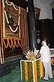 The Speaker, Lok Sabha, Shri Somnath Chatterjee paying floral tributes at the portrait of Dadabhai Naoroji on his Birth Anniversary at Parliament House, in New Delhi on September 04, 2008.jpg