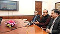 The Union Minister for Finance, Corporate Affairs and Information & Broadcasting, Shri Arun Jaitley addressing at the launch of the Official YouTube channel of the Ministry of Finance, in New Delhi. The Finance Secretary.jpg