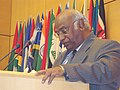 The Union Minister for Labour and Employment, Shri Mallikarjun Kharge addressing the 99th session of the International Labour Conference of ILO, at Geneva on June 15, 2010.jpg