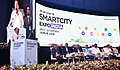 The Vice President, Shri M. Venkaiah Naidu addressing the inaugural session of the Smart City Expo India 2018, in Jaipur, Rajasthan.JPG