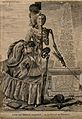 The figure of a woman divided in two parts; half skeleton, h Wellcome V0007580.jpg