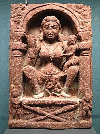 Relief plaque depicting the goddess Hariti