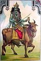 The inauspicious Shanidev, or Saturn, also has a bull for his vehicle.jpg