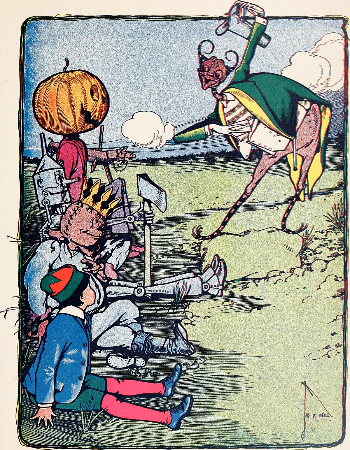 The marvelous land of Oz; being an account of the further adventures of the Scarecrow and Tin Woodman a sequel to the Wizard of Oz (1904) (14752972562).jpg