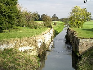 Louth Navigation - Alvingham lock, the best preserved of the surviving locks