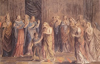 Emma of Normandy - The Ordeal of Queen Emma by William Blake.