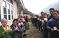 The voters displaying their identity card at a polling booth in '15 miles', Tsomgo (Changu) lake, Sikkim during the third phase of General Election-2009 on April, 30, 2009.jpg