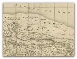 Kaarta - The Kingdom of Kaarta on a map, published 1825