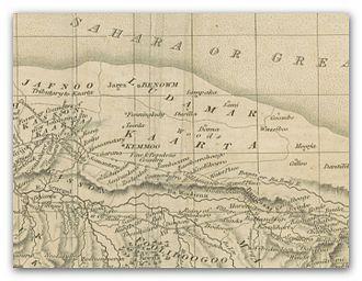 Kaarta - The Kingdom of Kaarta on a map, published 1825