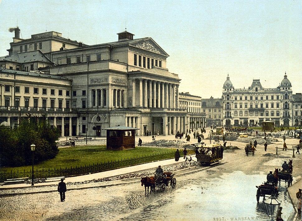 Theatre Square Warsaw about 1900