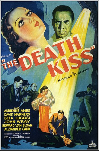 Tiffany Pictures - The Death Kiss (1932) produced by Tiffany Pictures, released by Sono Art-World Wide Pictures, and starring Bela Lugosi