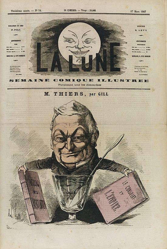 Thiers historien (par André Gill)