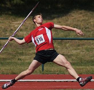 Javelin throw - German javelin thrower Thomas Röhler in 2011.
