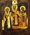 Three Saint Hierarchas by a Russian painter.jpg