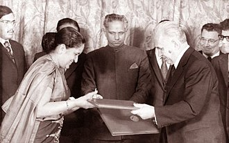 S. W. R. D. Bandaranaike -  Solomon Bandaranaike's wife Sirimavo Bandaranaike made history by becoming the world's first woman Prime Minister. She is seen here with the then Soviet Premier, Alexei Kosygin.