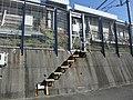 Tokaido Shinkansen maintenance workers stair - Ooshita.jpg