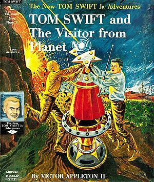Tom Swift - Cover of Tom Swift and the Visitor from Planet X (1961), from the Tom Swift, Jr. Adventure Series