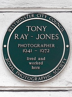 Tony ray jones photographer 1941 1972 lived and worked here