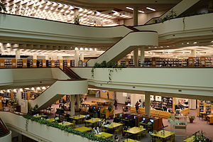Toronto Reference Library - Study space on the second floor.