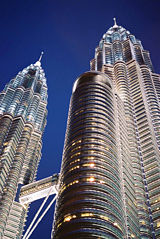 The Petronas Twin Towers, the tallest buildings in the 20th century and still the world's tallest twin towers.