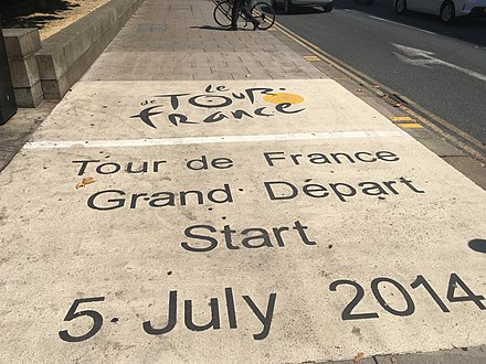 Location of the 2014 Grand Depart Tour de France Grand Depart marker Leeds.jpg