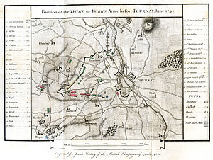 Battle of Tournay - Tournai 1794