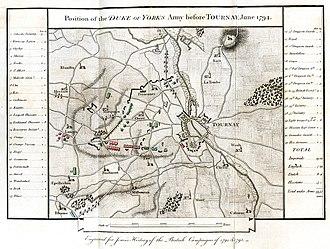 Battle of Tournay - Tournai 1794