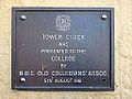 Tower Clock Plaque, Main Building Brisbane Boys' College 09.JPG
