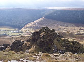 """Alport Castles - One of the outcrops known as """"The Tower"""""""