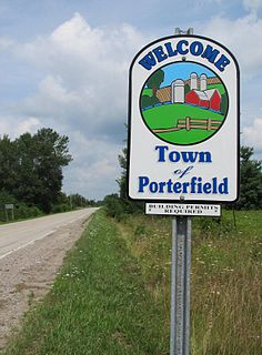 Porterfield, Wisconsin Town in Wisconsin, United States