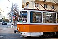 Tram in Sofia near Palace of Justice 2012 PD 048.jpg