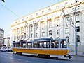 Tram in Sofia near Palace of Justice 2012 PD 056.jpg