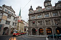 Tram in the old city center, Prague. Prague, Czech Republic, Western Europe. October 23, 2012.jpg
