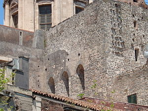 Catania Cathedral - Detail of the 11th-century Norman transept