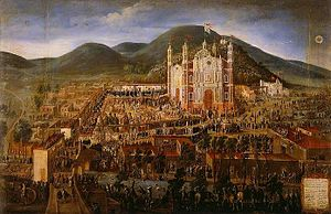 Basilica of Our Lady of Guadalupe - Inauguration of the Basilica of Our Lady of Guadalupe. Manuel Arellano, ca. 1709.