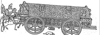Itinerant court - Fourteenth-Century English Carrage