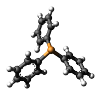 Ball-and-stick model of the triphenylphosphine molecule