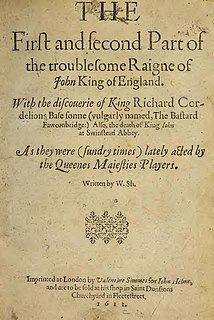<i>The Troublesome Reign of King John</i> play