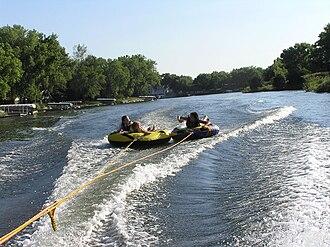 Morning Star Lake (Nebraska) - Recreational users on Morning Star Lake