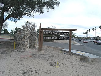 Fort Lowell - Image: Tucson Fort Lowell Park 1873 1891