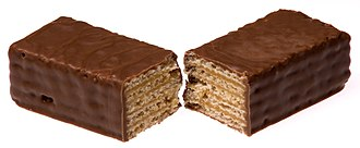 Wafer - A chocolate-covered wafer