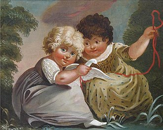 Michele Felice Cornè - Image: Two Children at Play with a White Bird